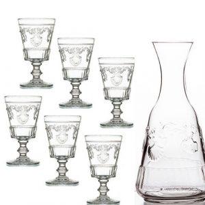 Set Versailles 6 Gläser und Karaffe