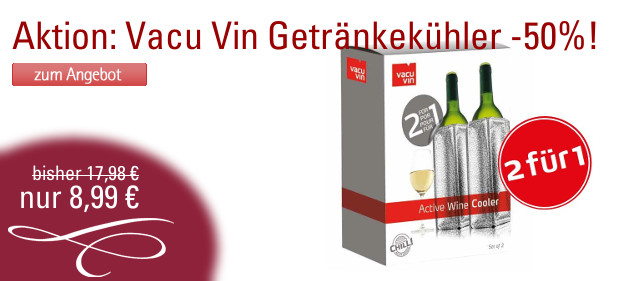 Vacu Vin Getränkeühler 2für1 Aktion
