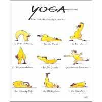 """Gaymann Kollektion Poster """"Yoga für Schwarzwälder"""" 40×50 cm"""