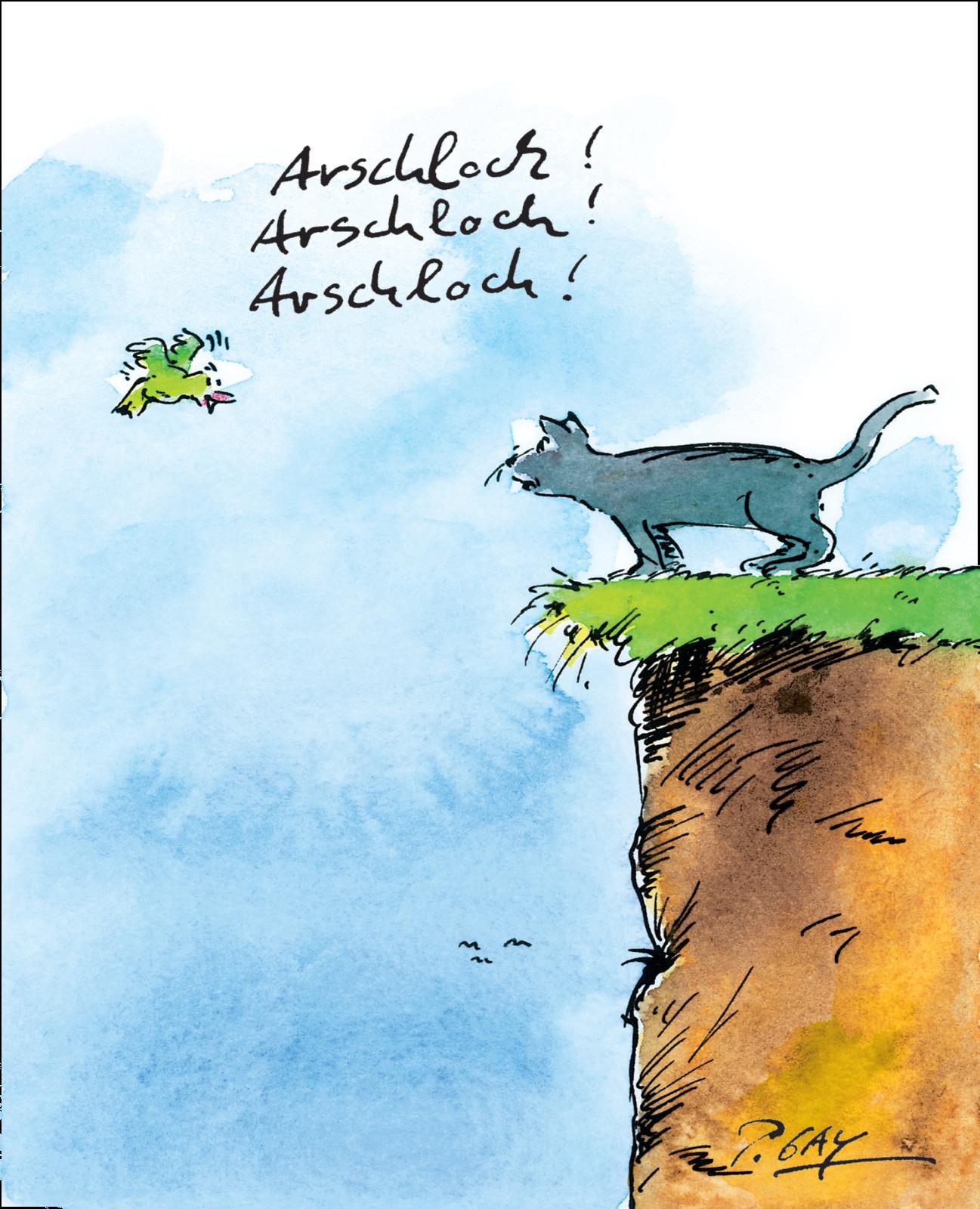 """Gaymann Kollektion Poster """"Arschloch! Arschloch!"""" 50×70 cm"""