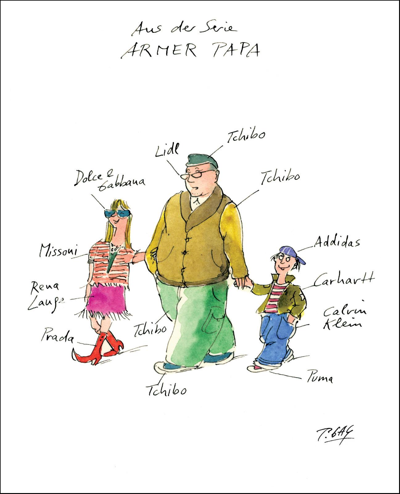 "Gaymann Kollektion Poster ""Armer Papa"" 40×50 cm"