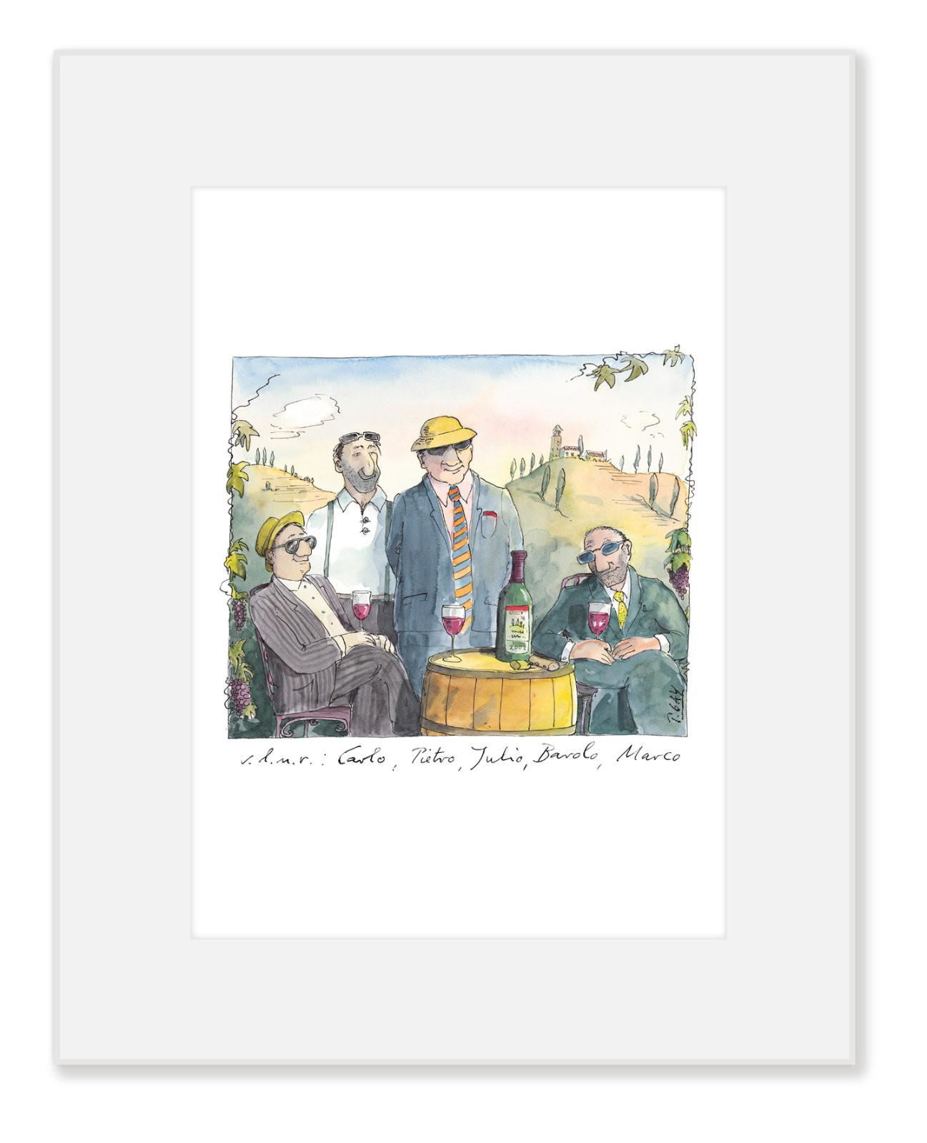 """Gaymann Kollektion Poster im Passepartout """"Barolo"""" 24×30 cm"""