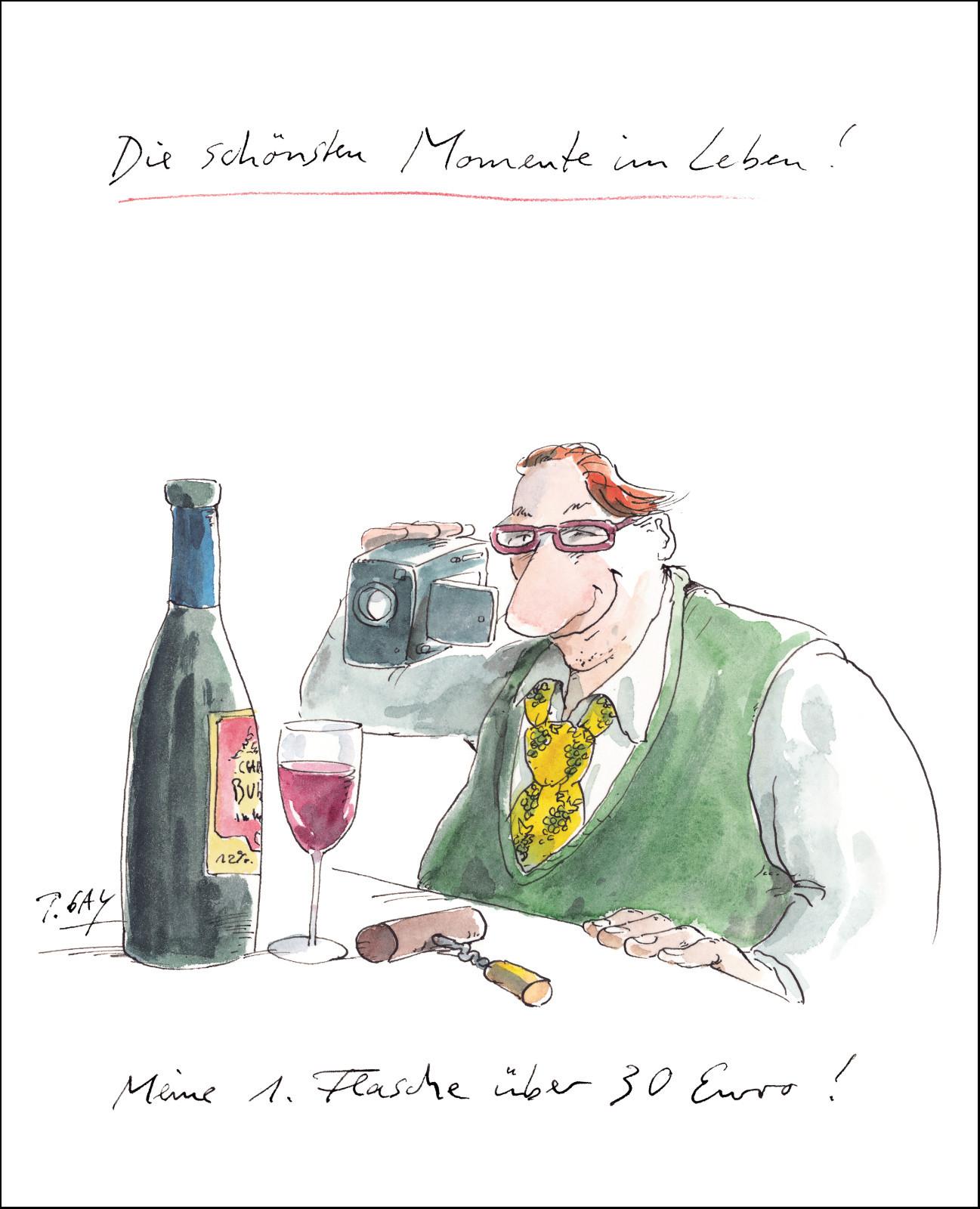 """Gaymann Kollektion Poster """"Meine erste Flasche über…"""" 40×50 cm"""