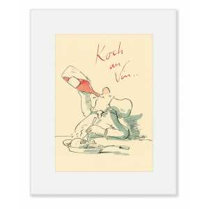 """Gaymann Kollektion, """"Koch au Vin"""" im Passepartout, 24x30cm"""