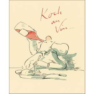 "Gaymann Kollektion Poster ""Koch au Vin"" 40×50 cm"
