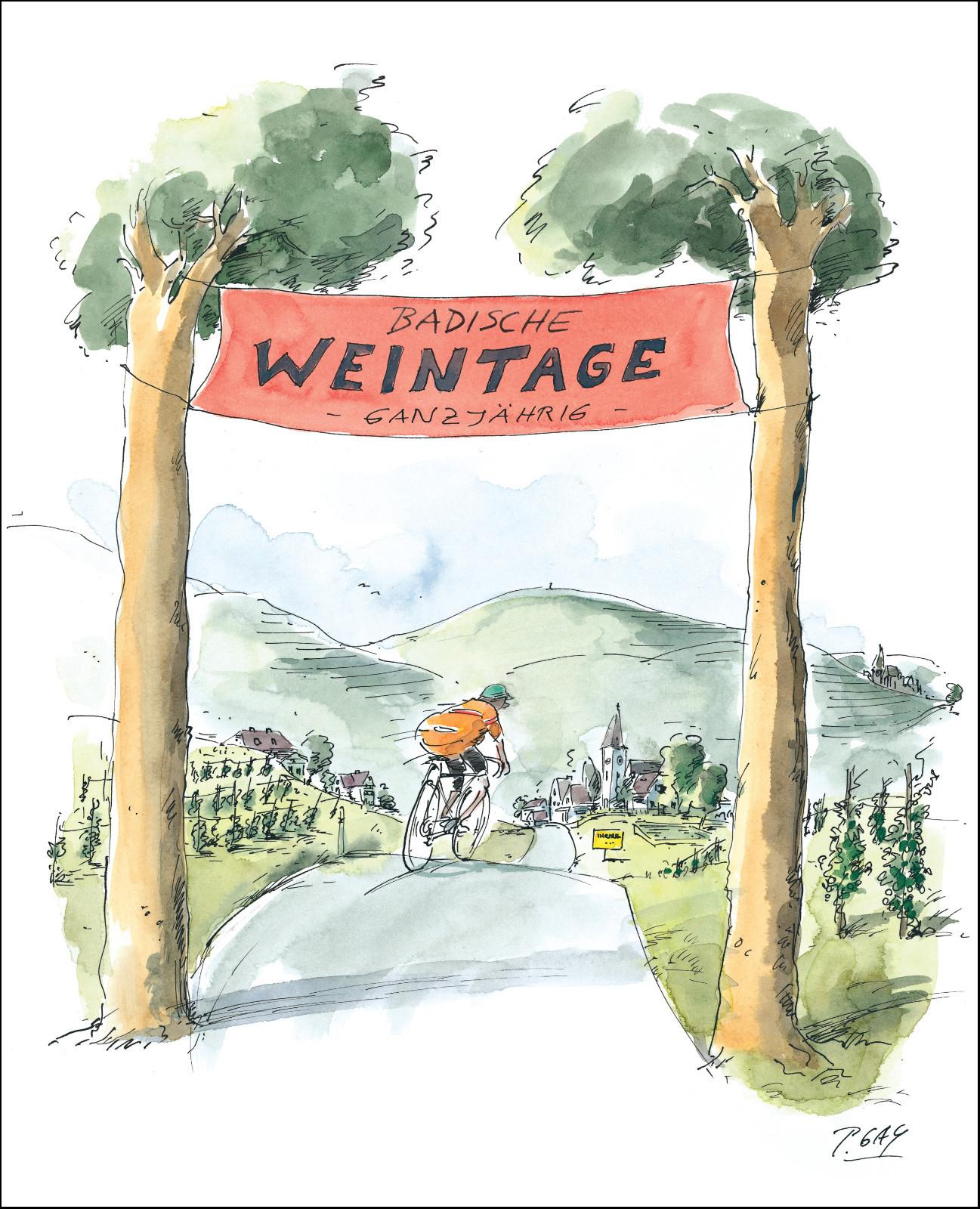 """Gaymann Kollektion Poster """"Badische Weintage"""" 40×50 cm"""