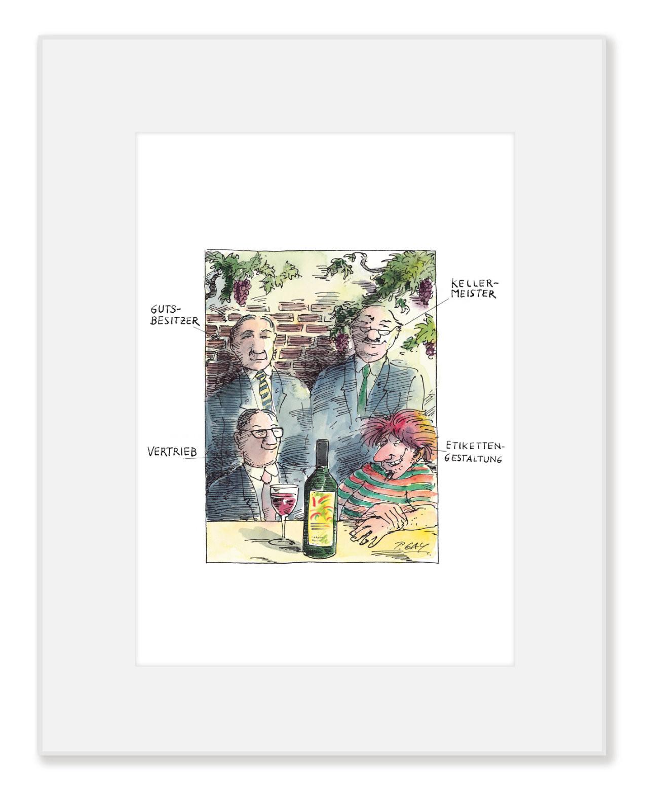 "Gaymann Kollektion Poster im Passepartout ""Kellermeister"" 24×30 cm"