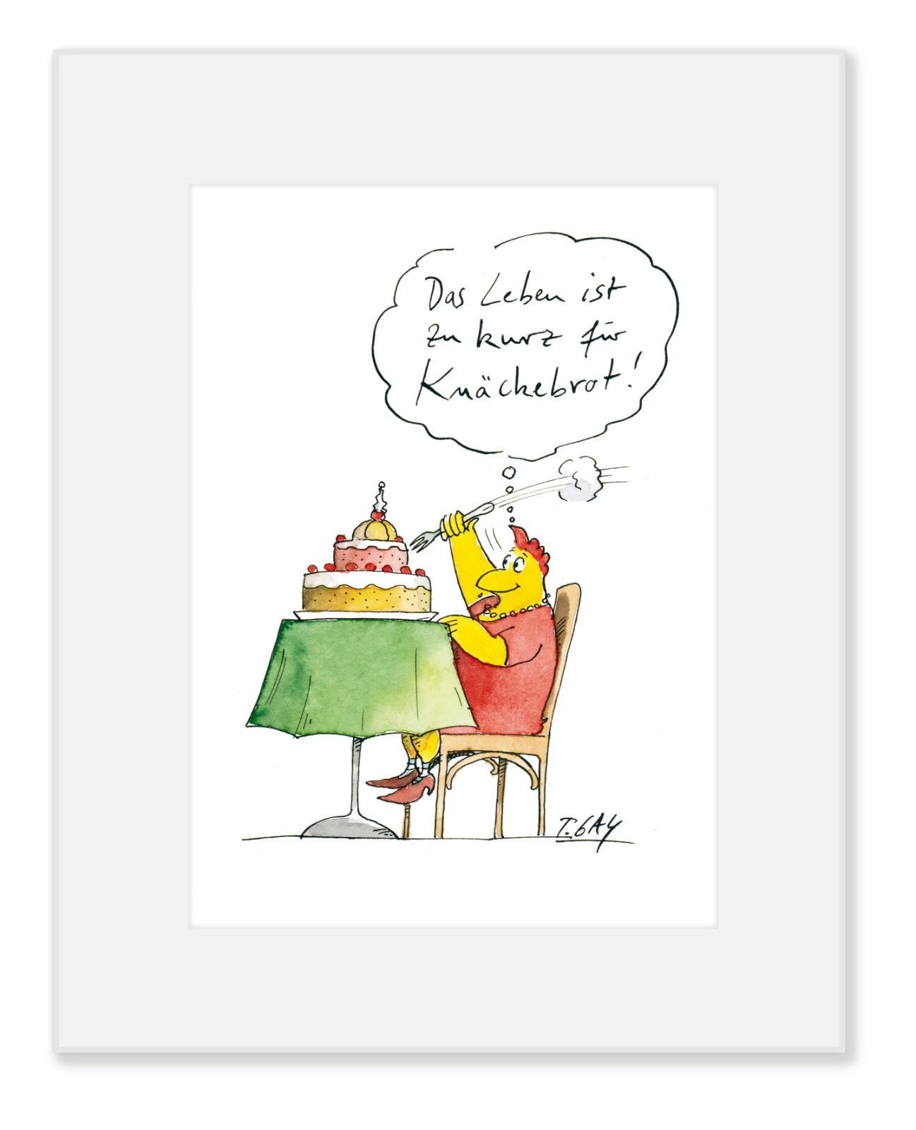 "Gaymann Kollektion, ""Knäckebrot"" im Passepartout, 24x30cm"