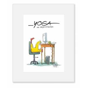 "Gaymann Kollektion Poster im Passepartout ""Yoga am Arbeitsplatz"" 24×30 cm"