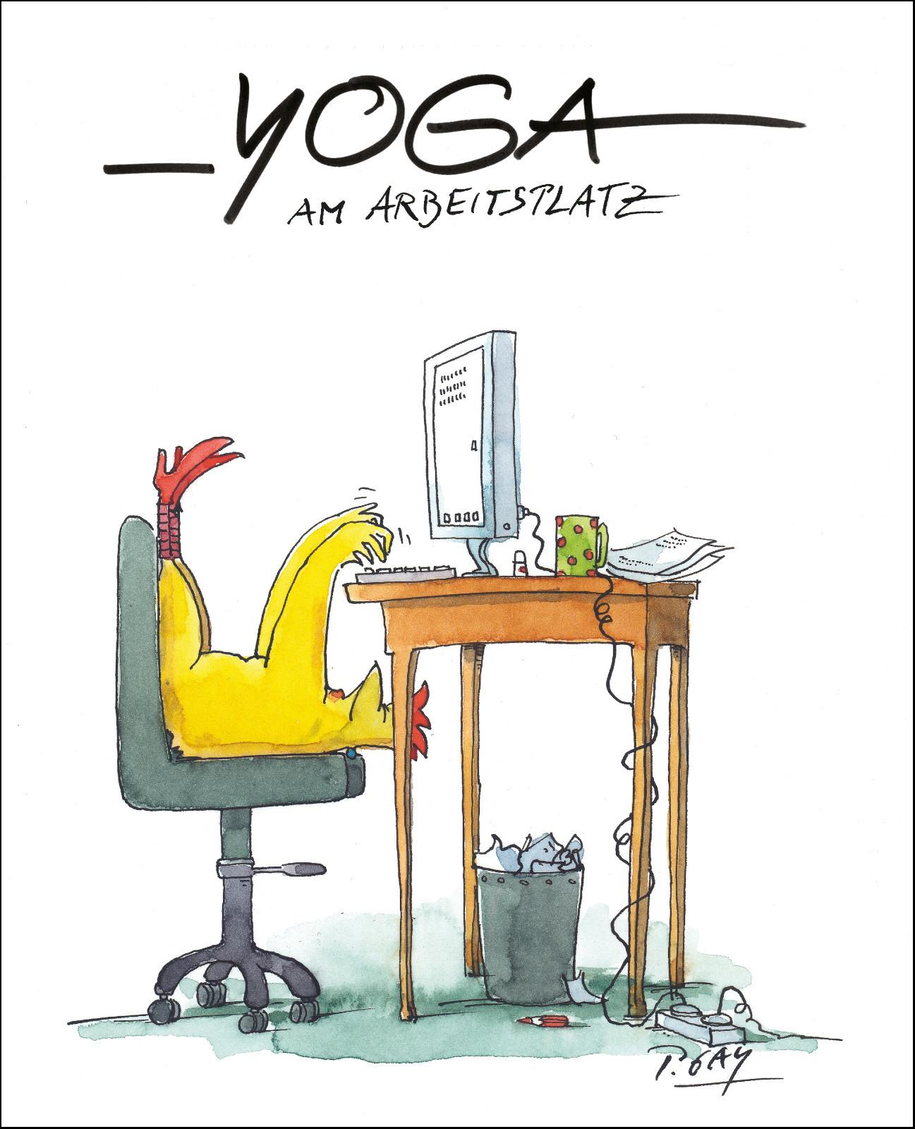 "Gaymann Kollektion Poster ""Yoga am Arbeitsplatz"" 40×50 cm"