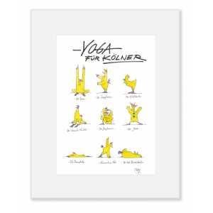 """Gaymann Kollektion Poster im Passepartout """"Yoga für Kölner"""", 24x30cm"""