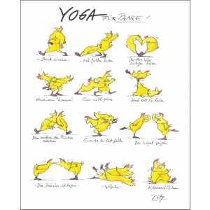 "Gaymann Kollektion Poster ""Yoga für Paare"", 40x50cm"