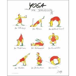 """Gaymann Kollektion Poster """"Yoga für Schweizer"""", 40x50cm"""