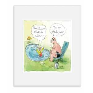 """Gaymann Kollektion Poster im Passepartout """"Mein Element das Wasser"""", 24x30cm"""