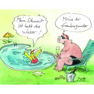 """Gaymann Kollektion Poster """"Mein Element das Wasser"""", 40x50cm"""