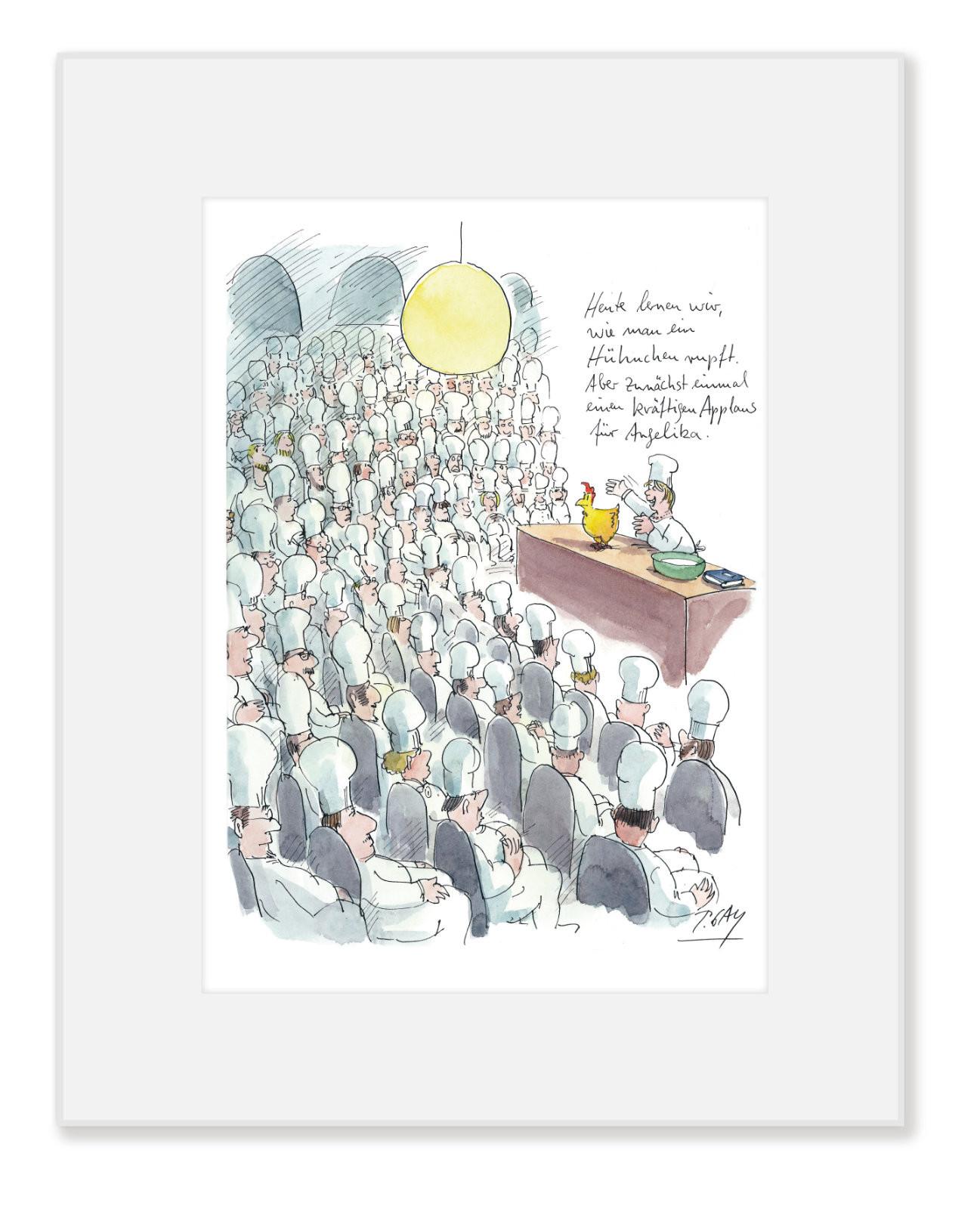 "Gaymann Kollektion Poster im Passepartout ""Angelika"", 24x30cm"