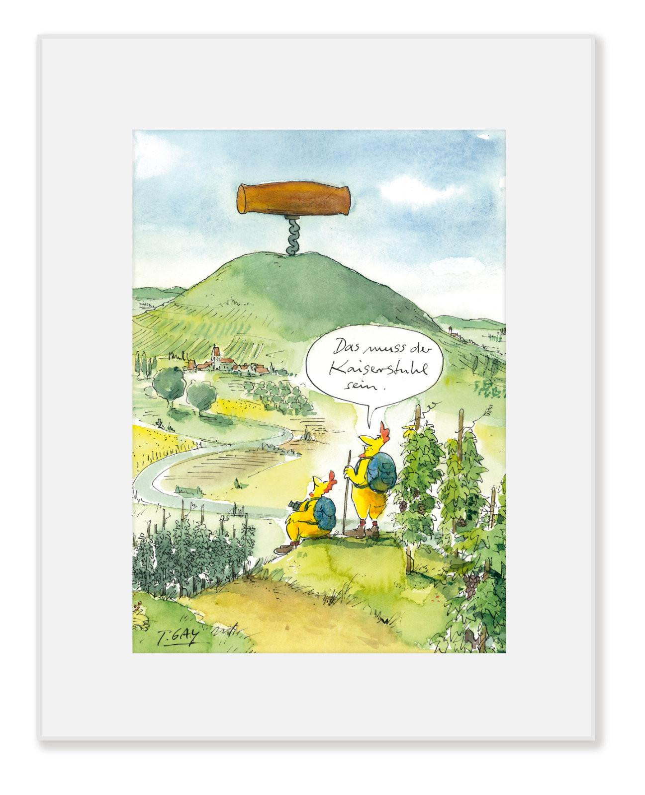 """Gaymann Kollektion Poster im Passepartout """"Kaiserstuhl"""", 24x30cm"""