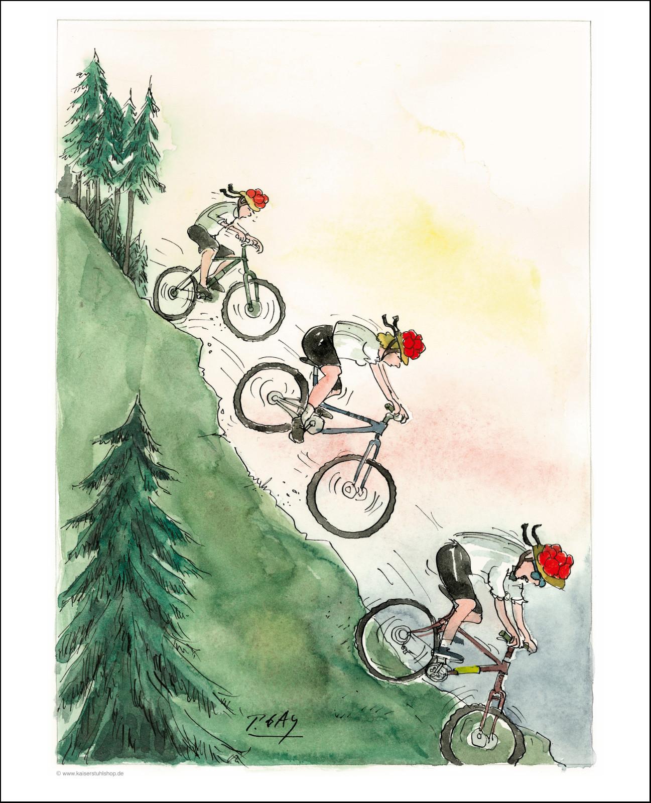 "Gaymann Kollektion Poster ""Radfahrer"", 40x50cm"