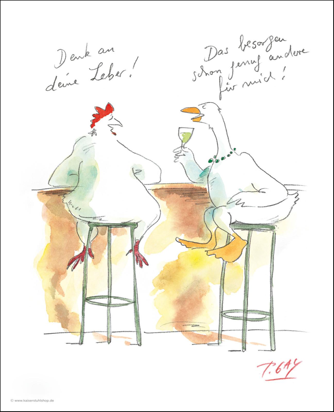 """Gaymann Kollektion Poster """"Denk an deine Leber"""", 40x50cm"""
