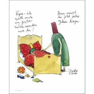 """Gaymann Kollektion Poster """"ein großer Wein"""", 40x50cm"""