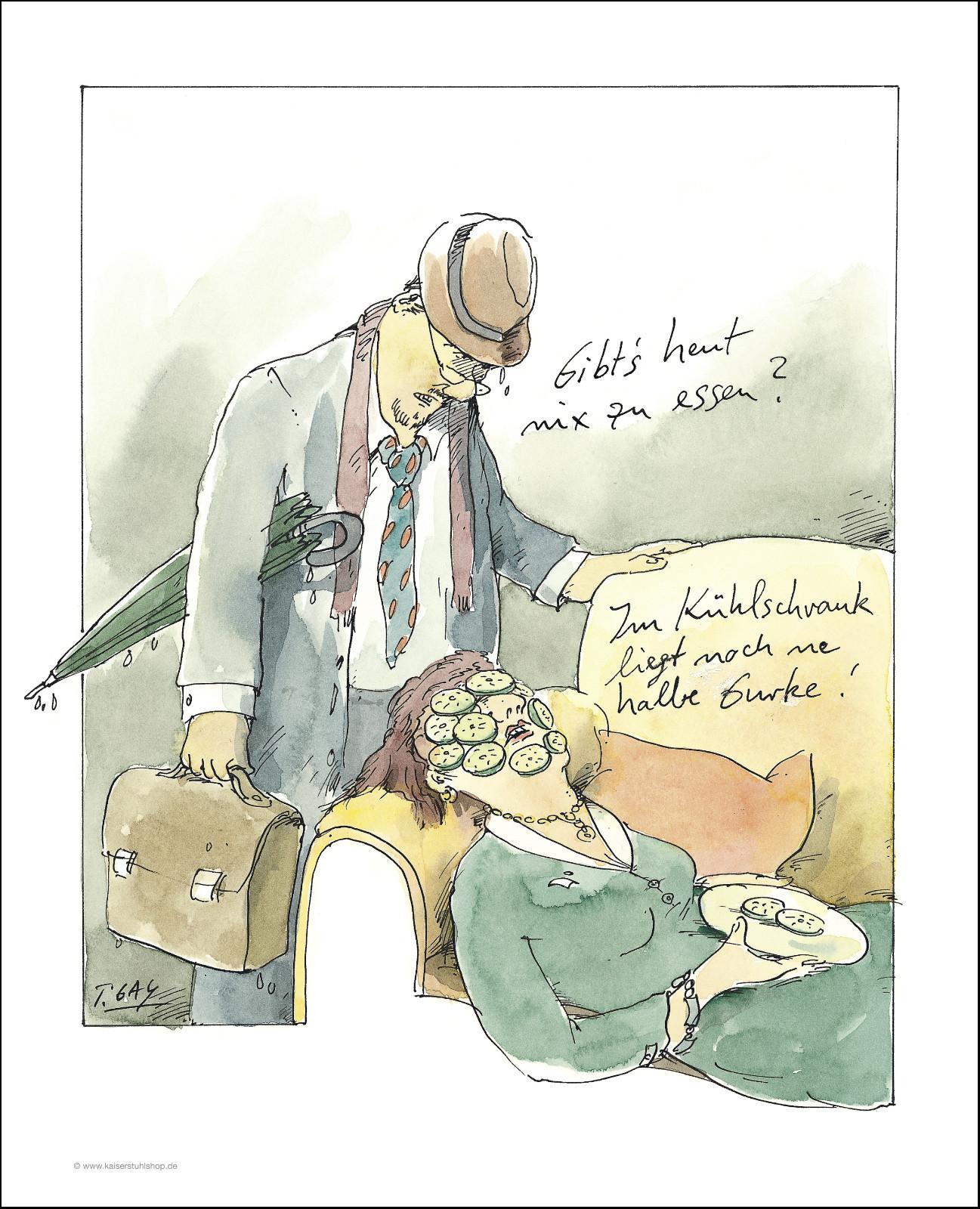 "Gaymann Kollektion Poster ""Halbe Gurke"", 40x50cm"