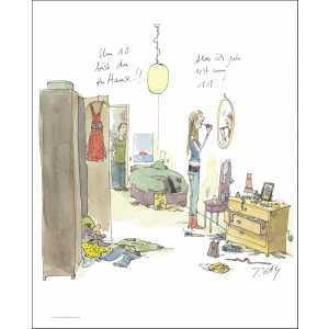 """Gaymann Kollektion Poster """"Um 10 Uhr zuhause"""", 40x50cm"""