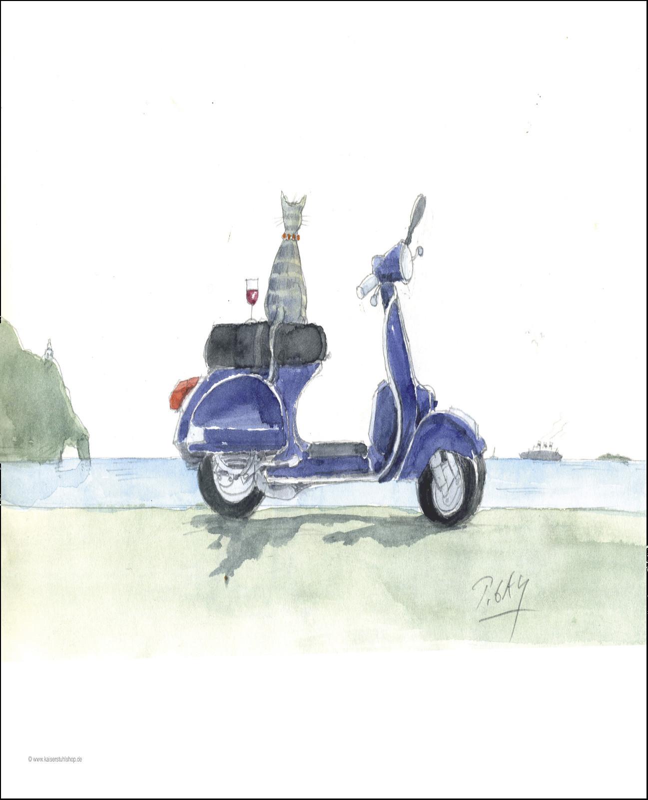 """Gaymann Kollektion Poster """"Vespa &Vino"""", 40x50cm"""