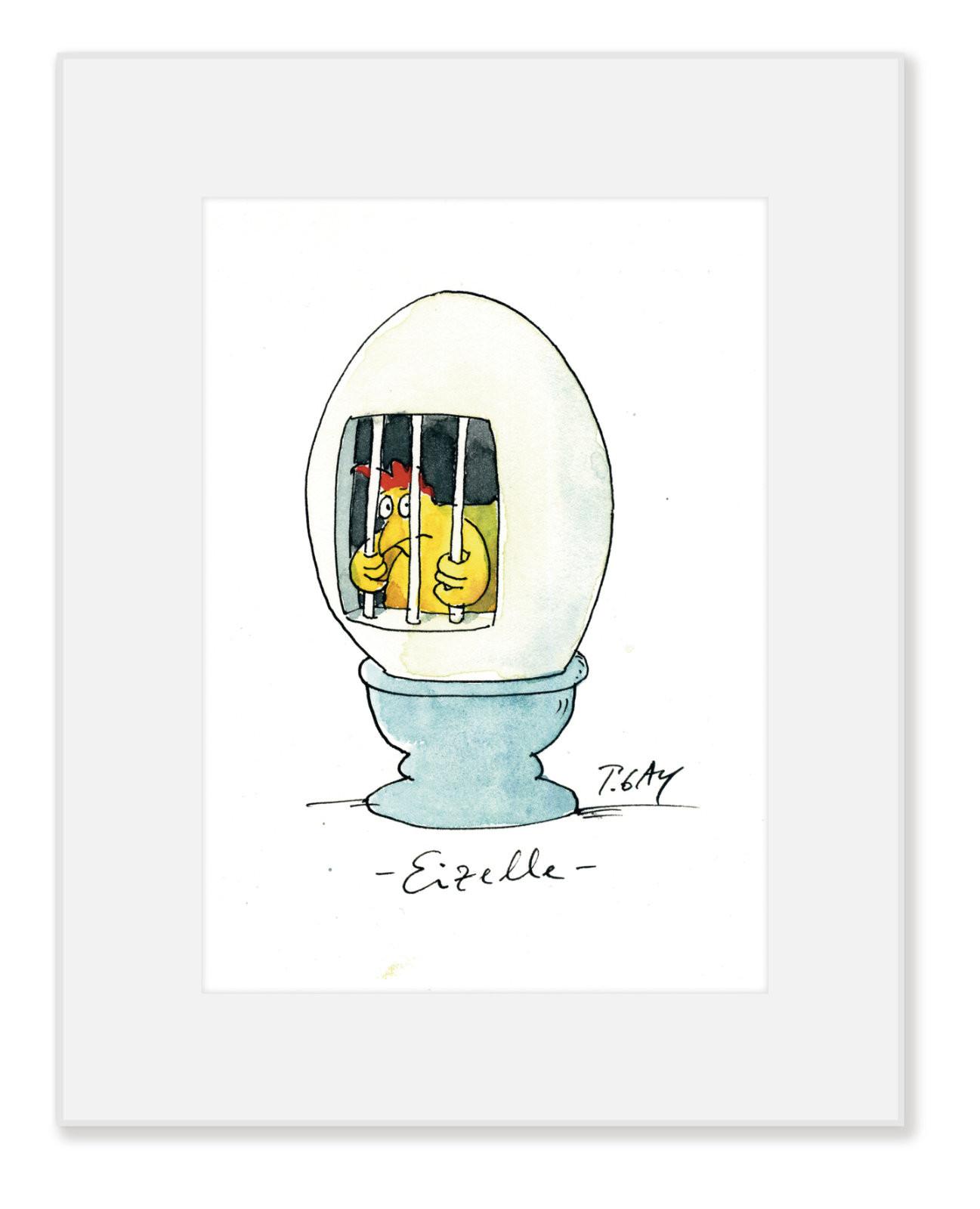 "Gaymann Kollektion Poster im Passepartout ""Eizelle"", 24x30cm"