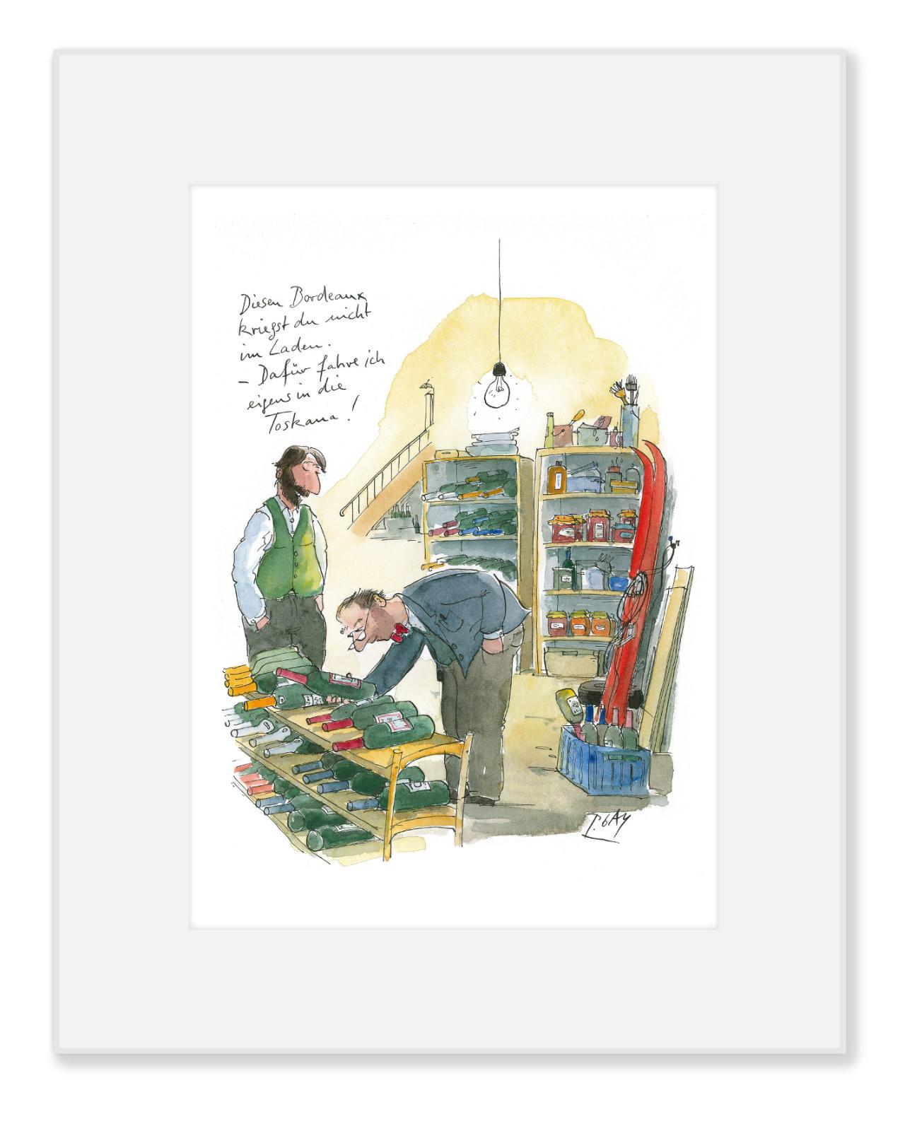 "Gaymann Kollektion Poster im Passepartout ""Bordeaux/Toskana"", 24x30cm"