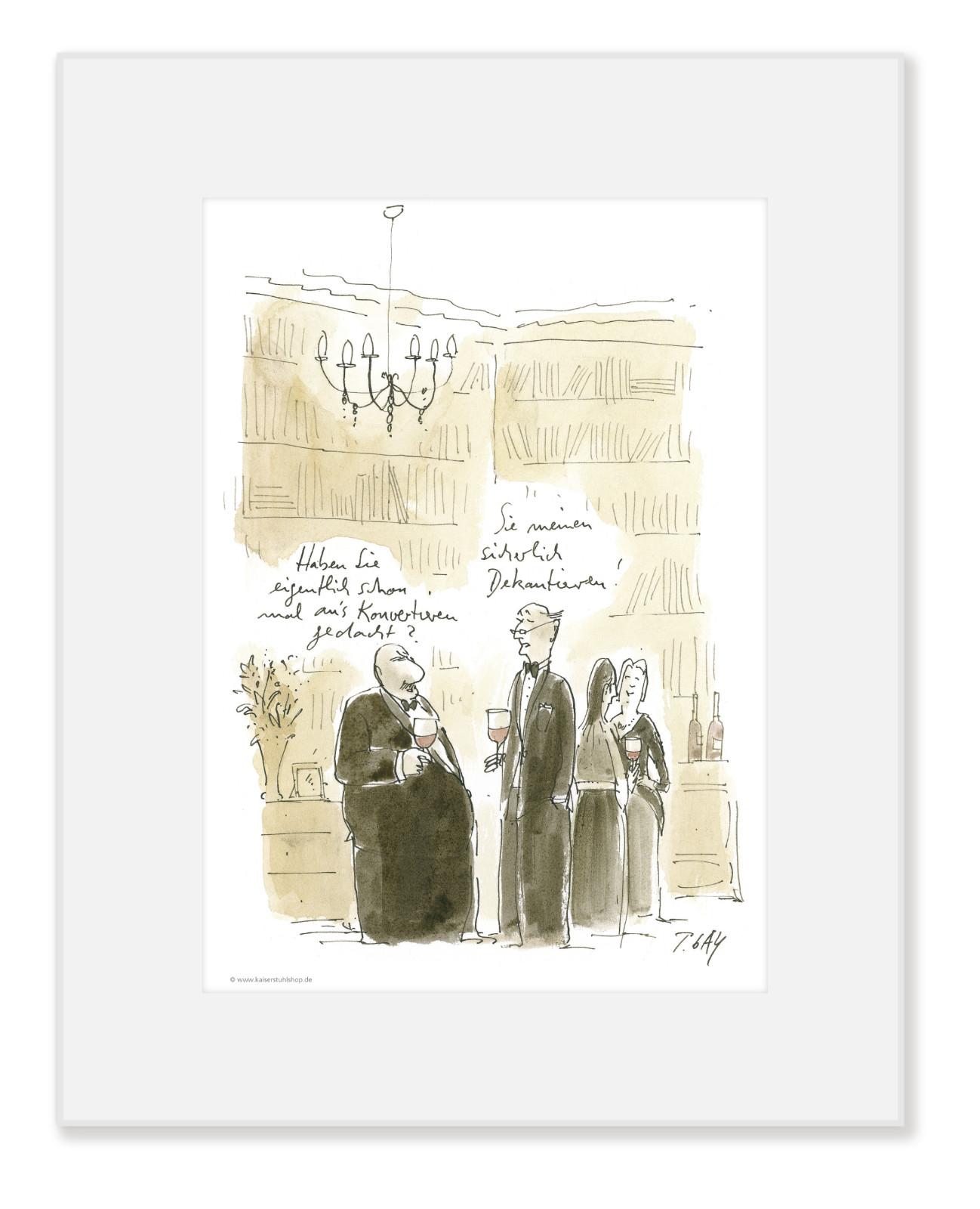 "Gaymann Kollektion Poster im Passepartout ""Konvertieren"" im Passepartout, 24x30cm"