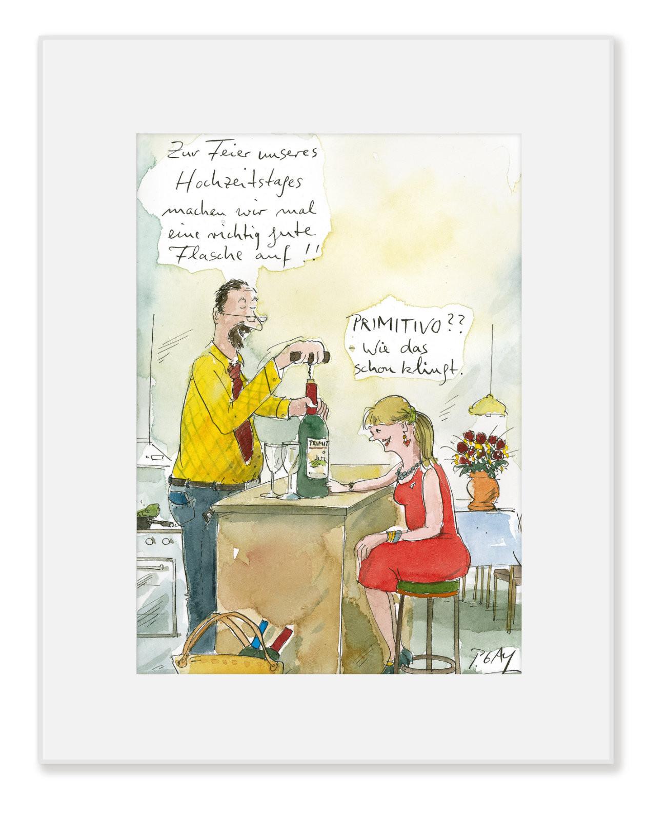 """Gaymann Kollektion, Poster im Passepartout """"Primitivo"""", 24x30cm"""
