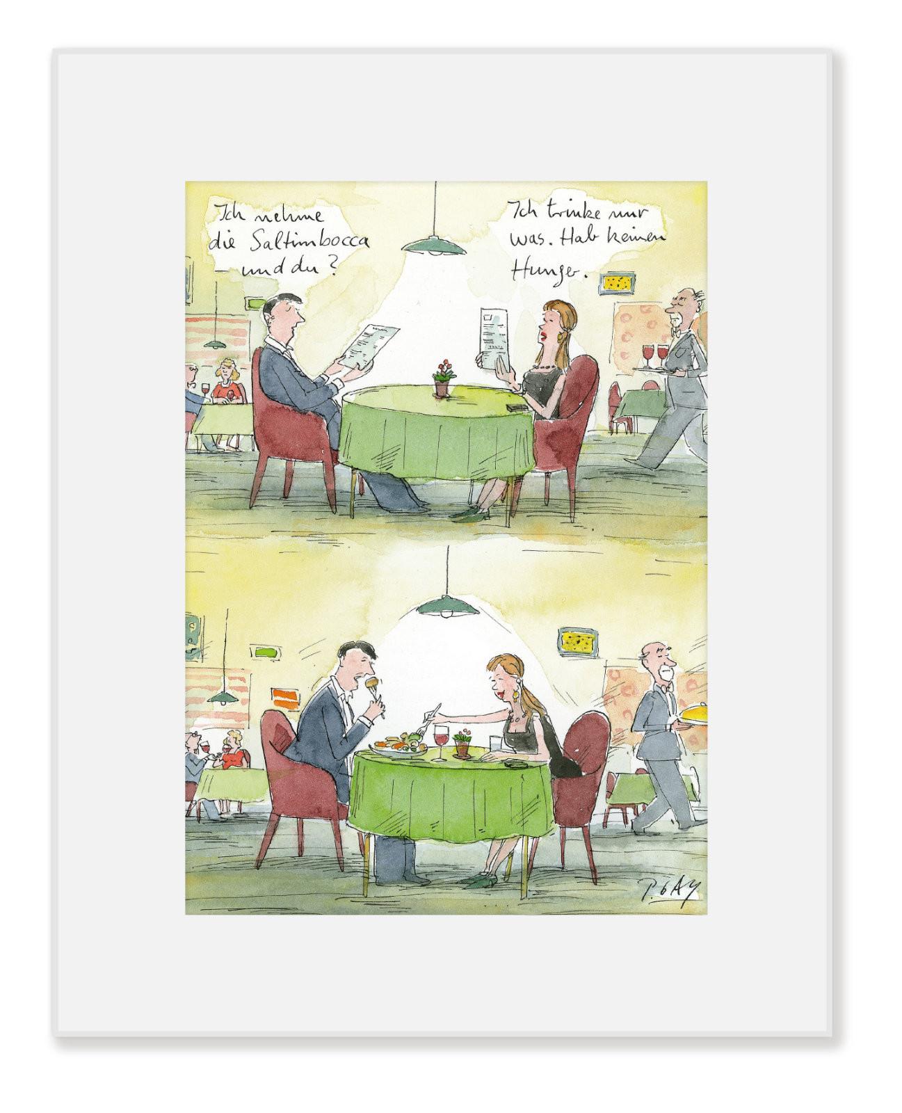 "Gaymann Kollektion Poster im Passepartout ""Saltimbocca"", 24x30cm"