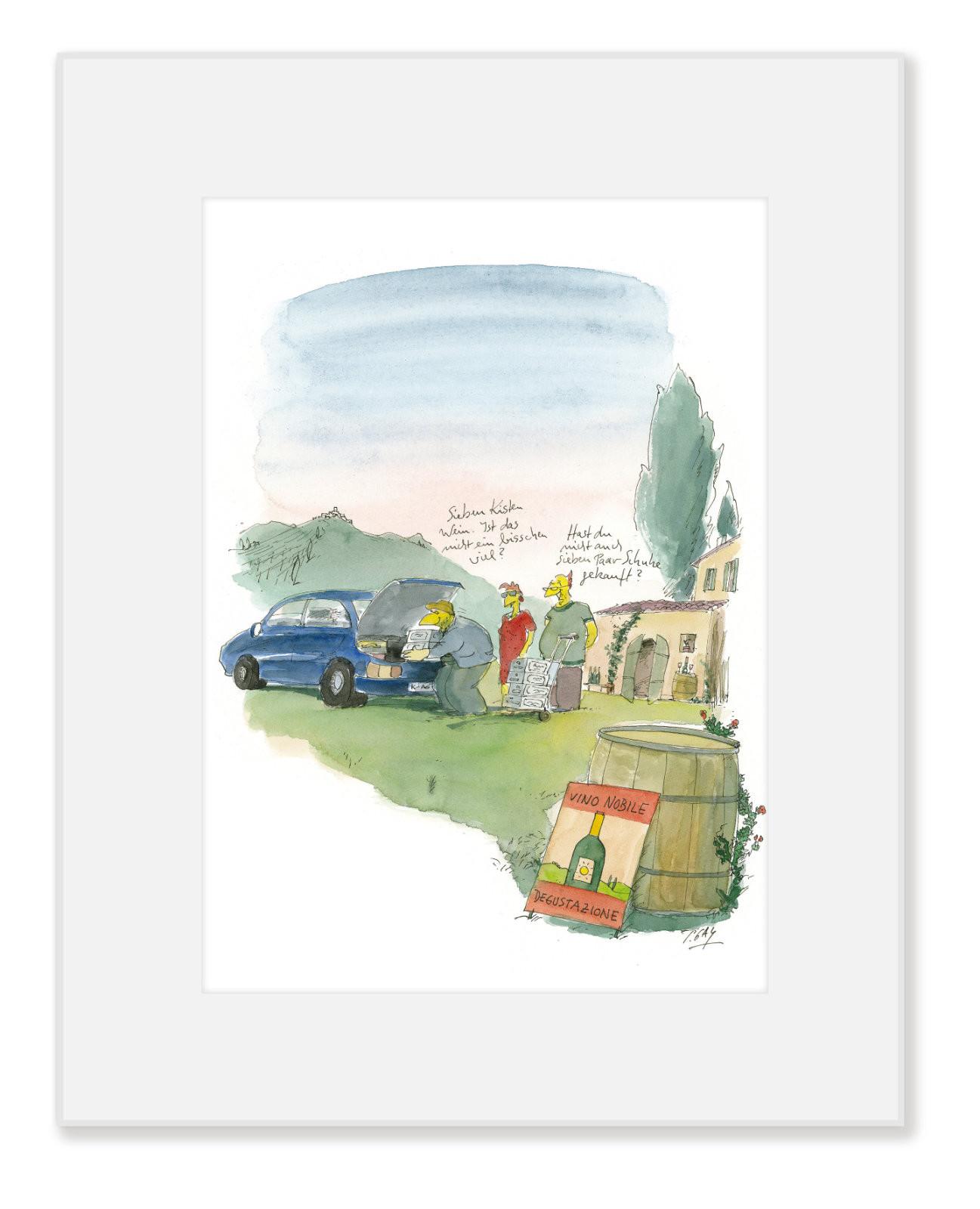 """Gaymann Kollektion Poster im Passepartout """"sieben Paar Schuhe"""", 24x30cm"""