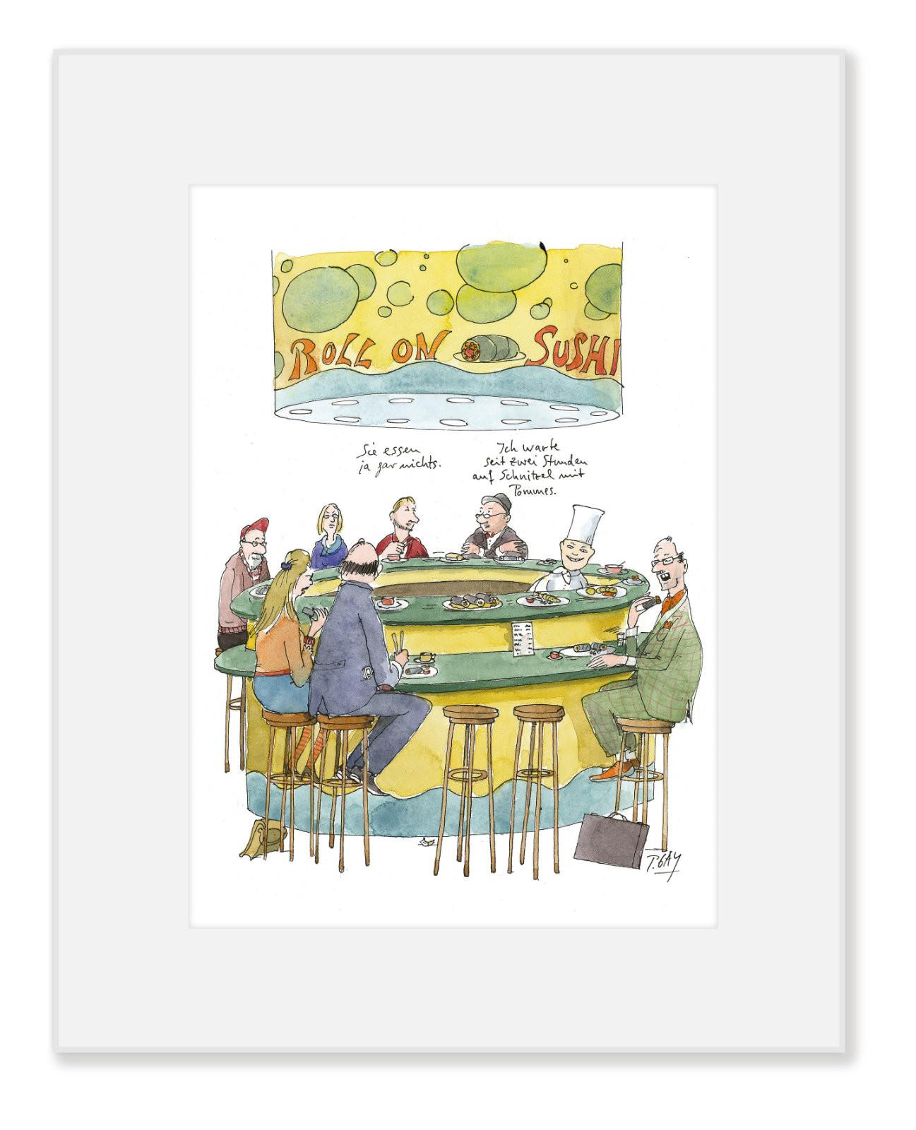 """Gaymann Kollektion Poster im Passepartout """"Sushi"""", 24x30cm"""