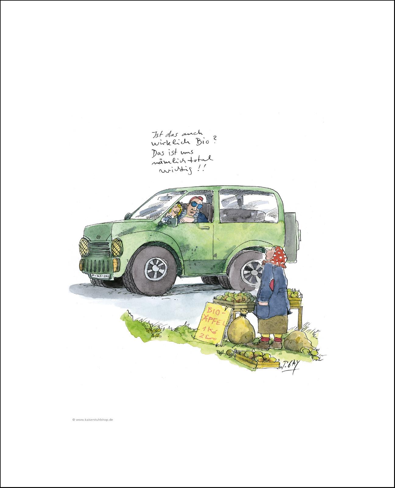 """Gaymann Kollektion Poster """"wirklich Bio?"""", 40x50cm"""