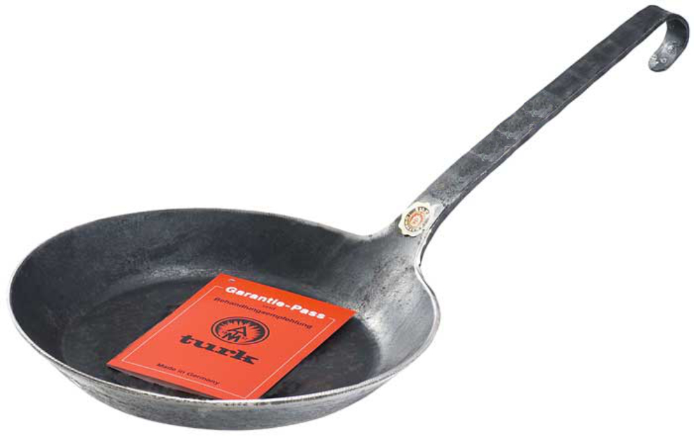 Turk Eisenpfanne, Freiform warmgeschmiedet, 30 cm
